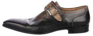 Magnanni Burnished Monk Strap Shoes