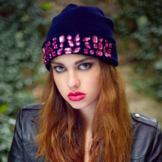 Stephanieverafter Knitted Beanie Luxe Embellishment Multiple Colours