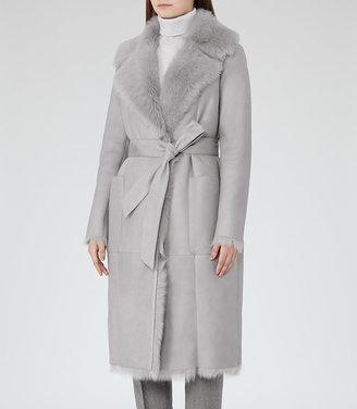 Lennox Longline Shearling Coat $2,435 thestylecure.com