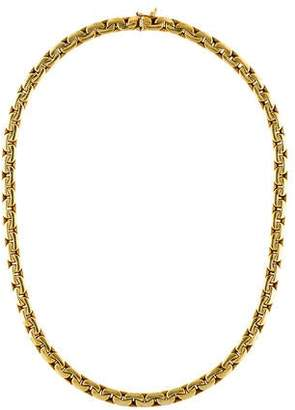 14K Flat Link Collar Necklace