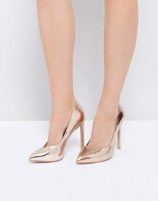 Steve Madden Walts Rose Gold Heeled Shoes