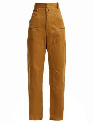 Etoile Isabel Marant Driest High Rise Cotton Trousers - Womens - Camel