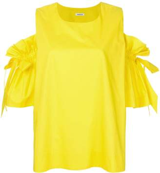 P.A.R.O.S.H. dropped tie sleeves blouse
