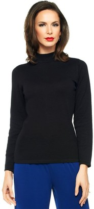 Joan Rivers Classics Collection Joan Rivers Long Sleeve Mock Turtleneck Sweater