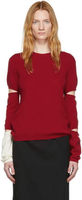 Off-White Rudi Gernreich Red and Slit Sleeve Sweater