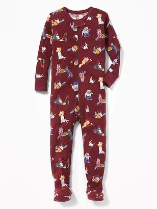 Old Navy Dog-Print Footed Sleeper for Toddler & Baby