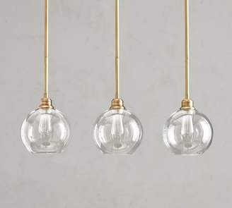 Pottery Barn PB Classic 3-Light Pendant with Glass Globe Shade