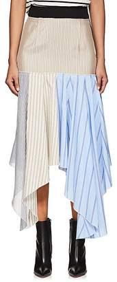 J.W.Anderson Women's Hanky Striped Cotton & Silk Skirt