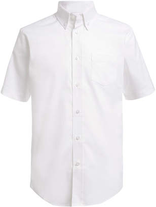 Nautica (ノーティカ) - Nautica Little Boys Stretch White Oxford Shirt
