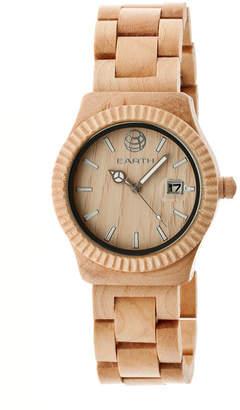 Earth Wood Pith Quartz Bracelet Watch, 40mm