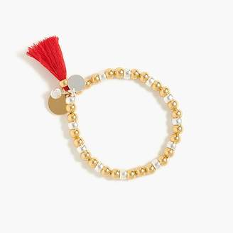 J.Crew Bead and tassel stretch bracelet