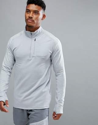 Nike Running Therma Spehere Element Half Zip Sweat In Grey 857829-012