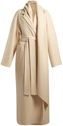 The Row Tooman long-line cashmere and wool-blend coat