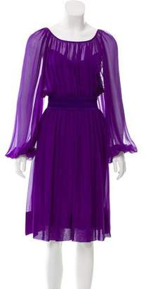 Dolce & Gabbana Silk Knee-Length Dress w/ Tags