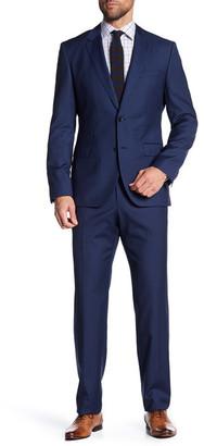 HUGO BOSS Johnstons/Lenon Trim Fit Stripe Wool Suit $895 thestylecure.com