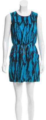 Gryphon Sleeveless Silk Dress