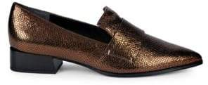 Franco Sarto Nebby Metallic Leather Loafers