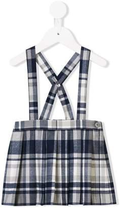 Il Gufo check dungaree skirt