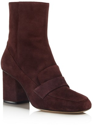 Whistles Suede Block Heel Loafer Booties - 100% Bloomingdale's Exclusive $370 thestylecure.com
