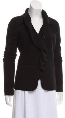 Givenchy Wool Ruffle-Accented Jacket