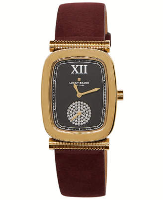 Lucky Brand Women Laurel Berry Leather Watch 27.5mm