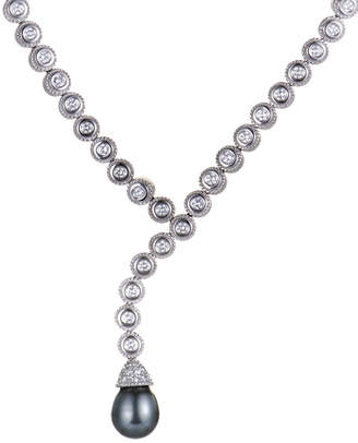 Heritage Penny Preville Penny Preville 18K 2.50 Ct. Tw. Diamond & Pearl Necklace