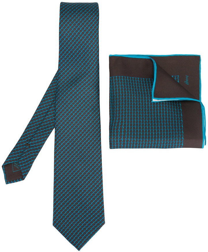 BrioniBrioni tie/square set