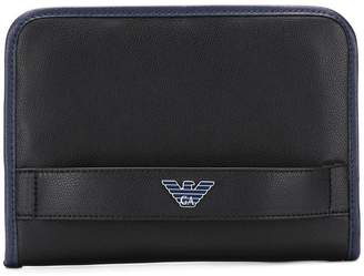 Emporio Armani zip around clutch bag