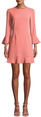Jill Stuart Bell-Sleeve Jersey Cocktail Dress