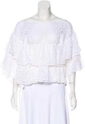 Chanel Tiered Crochet Top