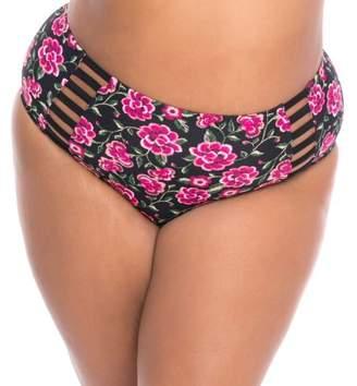 9988863ab28fb Moxi Blu Women s Plus-Size Bikini Swimsuit Bottom With Cut-Out