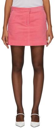 Ashley Williams Pink Corduroy Executive Miniskirt
