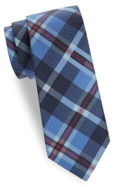 Saks Fifth Avenue Large Checkered Silk Tie
