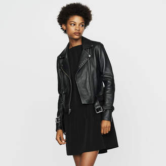 Maje Biker-style leather jacket