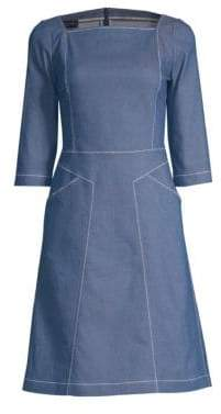 Piazza Sempione Denim A-Line Dress