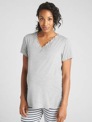 Gap Maternity Lace-Trim Sleep T-Shirt in Modal