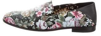 Alexander McQueen Floral Flat Loafers