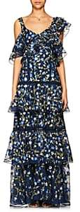 Prabal Gurung Women's Embroidered Silk Organza Gown - Navy
