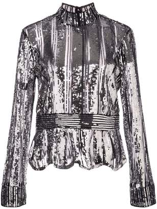 Derek Lam 10 Crosby metallic party blouse