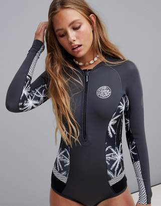 fc2160ac63 Rip Curl bomb long sleeve swimsuit in black