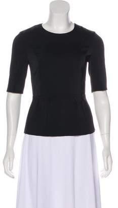 J Brand Short Sleeve Peplum Top