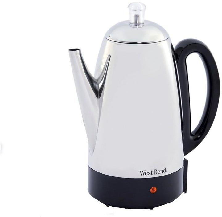 West Bend 12-Cup Percolator in Stainless Steel
