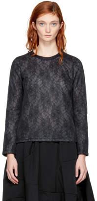 Comme des Garcons Black Long Sleeve Lace T-Shirt