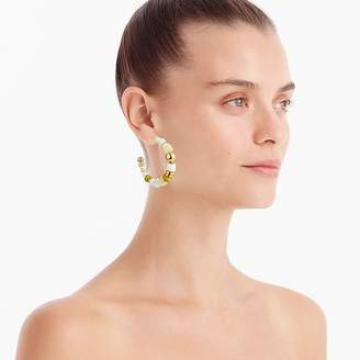 J.Crew Multi-bead hoop earrings