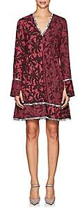 Proenza Schouler WOMEN'S ABSTRACT-PRINT SILK A-LINE DRESS-WINE, MULTI SIZE 0