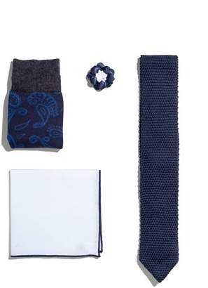 hook + ALBERT Shop the Look Suiting Accessories Set, Navy