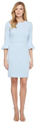 Donna Morgan - 3/4 Bell Sleeve Sheath Dress Women's Dress $118 thestylecure.com
