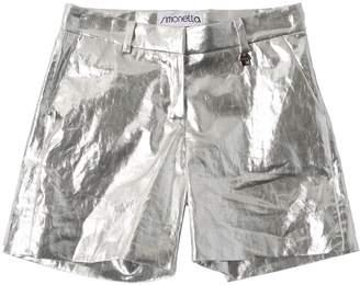 Simonetta Metallic Coated Linen Shorts