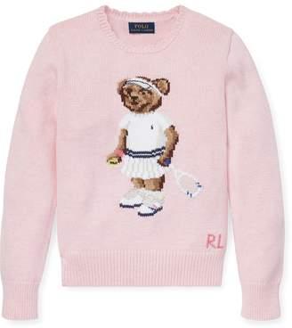 Ralph Lauren Tennis Bear Cotton Sweater