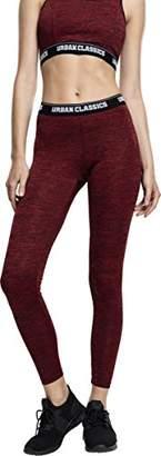 Urban Classics Urban Classic Women's Ladies Active Melange Logo Leggings Sports Trousers,W52